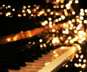 piano, light, and music image