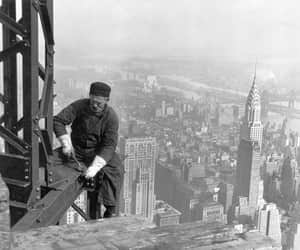 new york, old, and empire state building image