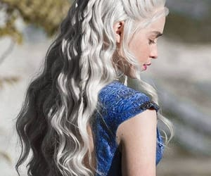 hair, game of thrones, and daenerys image