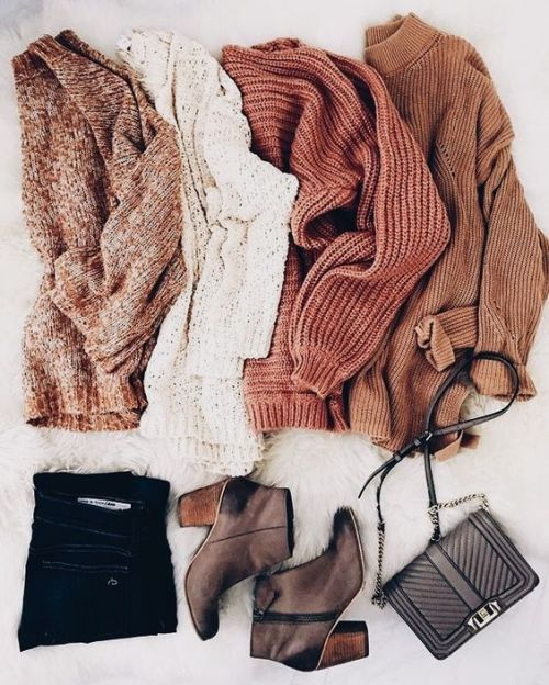 Cozy knitted winter outfits – Just Trendy Girls