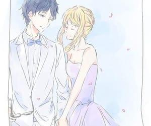 anime, shigatsu wa kimi no uso, and anime girl image