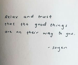 quote, relax, and trust image