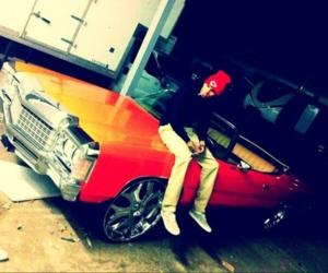 chris brown and car image