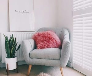 grey, pillow, and pink image