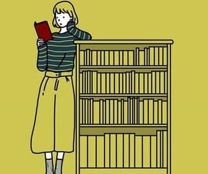 book, bookcase, and books image