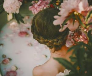bath, flower, and poem image