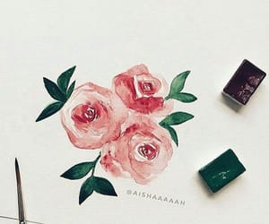 art and roses image