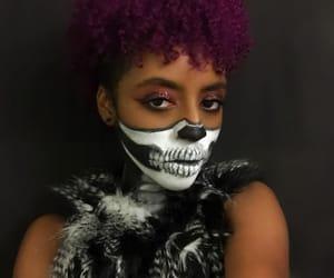 calavera, maquillaje, and Halloween image