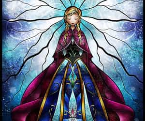 anna, stained glass, and art image