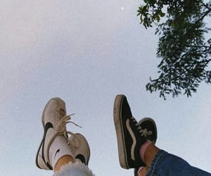 photography, shoes, and sky image