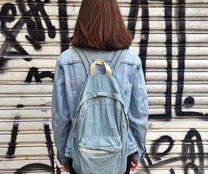 back, denim, and girls image