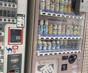 vending machine and pastel image