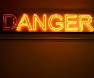 anger, danger, and neon signs image