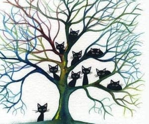 cats and tree image