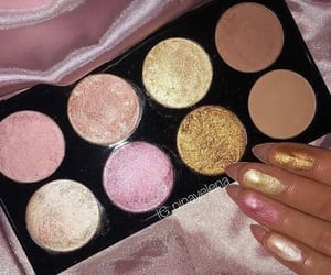 gold, makeup, and swatches image