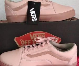 sneakers, vans, and pastel pink image