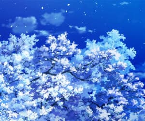 aesthetic, anime, and cherry blossom image