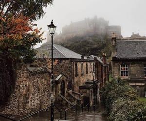 autumn, castle, and edinburgh image