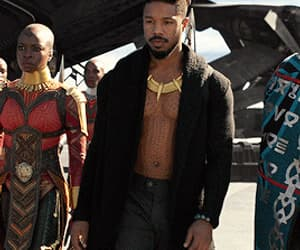 actor, funny face, and black panther image