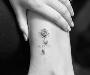 tattoo, blessed, and rose image
