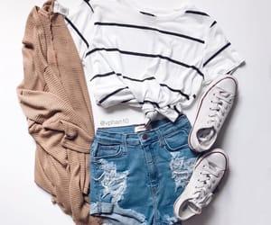 converse, fashion, and cardigan image
