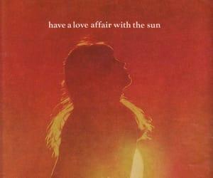 sun, love, and orange image