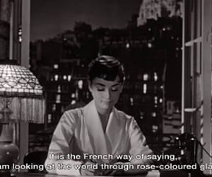 audrey hepburn, black and white, and movie image