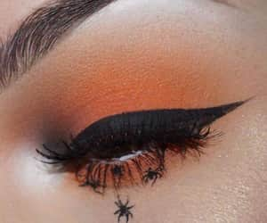 Halloween, makeup, and spiders image
