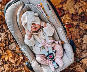 baby, love, and autumn image