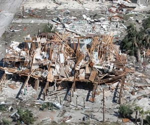 damage, mexico beach, and disaster image