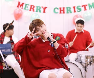 christmas, red, and seokcheol image