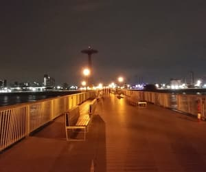 boardwalk, empty, and city image