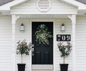 front porch, home, and white image