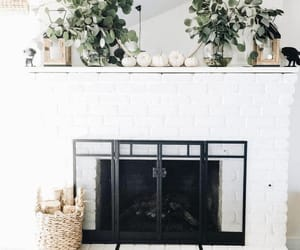 clean, fire place, and home image