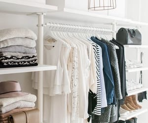 closet, room, and clothes image