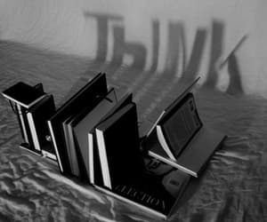 black, books, and photography image