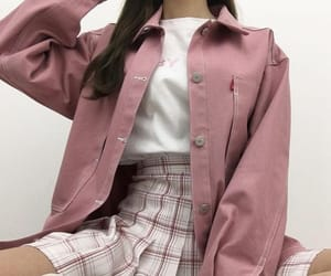 outfit, pink, and aesthetic image