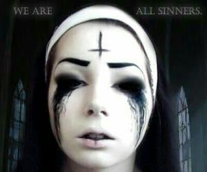 creepy, Halloween, and nun image