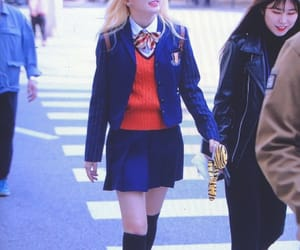 beautiful, blond, and red velvet image