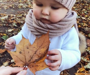 baby, autumn, and cute image