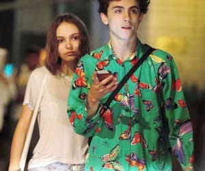 lily rose depp, cute, and timothee chalamet image