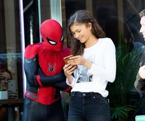 mj, spider-man, and peter parker image