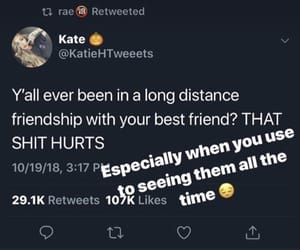 friendship, quotes, and sad image