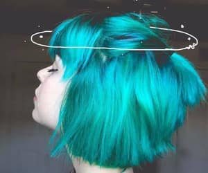 aesthetic, blue, and hairstyle image