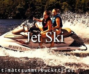jet ski and bucket list image