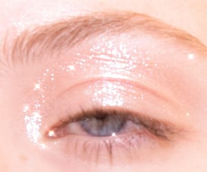 blue eye, makeup, and pink image