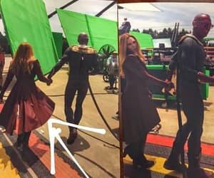 behind the scenes, costume, and elizabeth olsen image