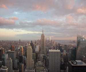 city, clouds, and nyc image