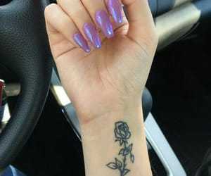 nails, tattoo, and nail art image