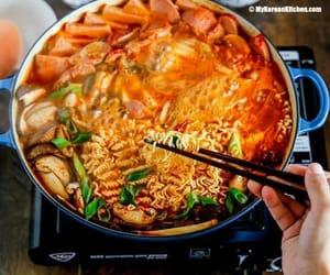 food, ramen, and korean food image